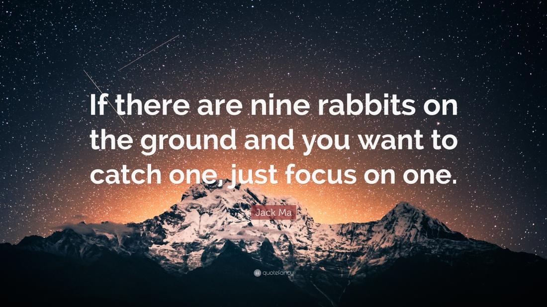 Jack Ma Rabbit QUote